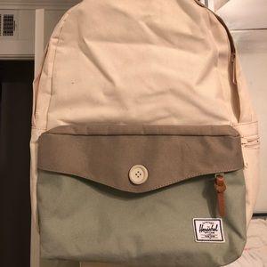 Herschel Cream and Green settlement Backpack